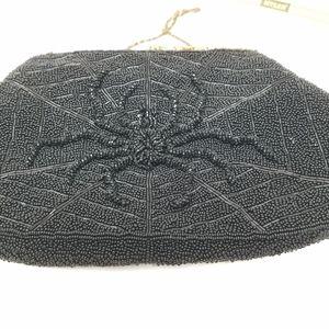 Halloween Spider Vintage Beaded Handbag